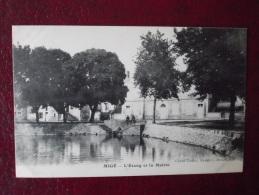 Cpa MIGE - L'étang Et La Mairie - - Autres Communes
