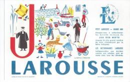 """Buvard   -   LAROUSSE   Lettre  """"  J  """"   Jeu De Mots à Trouver - Papeterie"""
