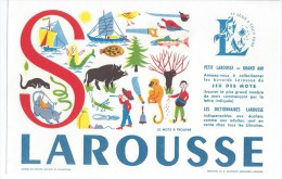 """Buvard   -   LAROUSSE   Lettre  """"  S  """"   Jeu De Mots à Trouver - Papeterie"""