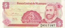 BILLET # NICARAGUA # 5 CENTAVOS DE CORDOBA  # 1991 # PICK 168 # NEUF # - Nicaragua