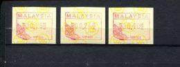 240288308 MALEISIE  POSTFRIS MINT NEVER HINGED POSTFRISCH EINWANDFREI ATM MICHEL SET 1 S1 - Malaysia (1964-...)