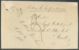 Devant De Bande D´imprimé De ROCHEFORT (type 18) Le 30-VIII Vers Dinant + Griffe Paraphe Du Maréchal Des Logis De Larme - 1830-1849 (Belgique Indépendante)