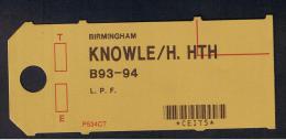RB 954 - Unused Post Office Postal Tag - Knowle / Hockley Heath - Solihull Warwickshire - United Kingdom