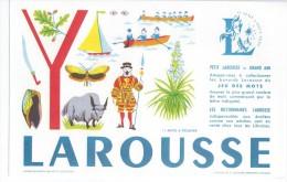 """Buvard   -   LAROUSSE   Lettre    """"  Y  """"    -   Jeu De Mots à Trouver - Papeterie"""