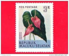 Etichette Di Fantasia -  1954 - Republik Maluku Selatan - Flora - Piante - Anthurium Ferrierense - 3 - Altre Collezioni