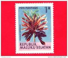 Etichette Di Fantasia -  1954 - Republik Maluku Selatan - Flora - Piante - Codiaeum Variegatum - 1 - Altre Collezioni