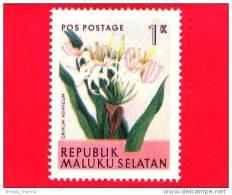 Etichette Di Fantasia -  1954 - Republik Maluku Selatan - Flora - Piante - Crinum Asiaticum - 1 - Altre Collezioni