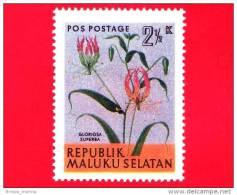 Etichette Di Fantasia -  1954 - Republik Maluku Selatan - Flora - Piante - Gloriosa Superba - 2.5 - Altre Collezioni
