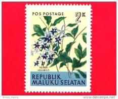Etichette Di Fantasia -  1954 - Republik Maluku Selatan - Flora - Piante - Petrea Volubilis - 2 - Altre Collezioni
