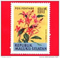 Etichette Di Fantasia -  1954 - Republik Maluku Selatan - Flora - Piante - Plumbago - 80 - Altre Collezioni