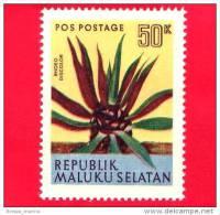 Etichette Di Fantasia -  1954 - Republik Maluku Selatan - Flora - Piante - Rhoeo Discolor - 50 - Altre Collezioni