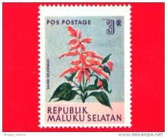 Etichette Di Fantasia -  1954 - Republik Maluku Selatan - Flora - Piante - Salvia Splendens - 3 - Altre Collezioni