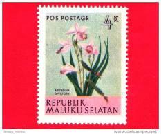 Etichette Di Fantasia -  1954 - Republik Maluku Selatan - Flora - Piante - Arundina Speciosa - 4 - Altri