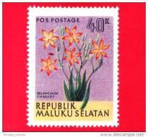 Etichette Di Fantasia -  1954 - Republik Maluku Selatan - Flora - Piante - Belamcanda Chinensis - 40 - Altri