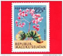 Etichette Di Fantasia -  1954 - Republik Maluku Selatan - Flora - Piante - Glabra Begonia - 22.5 - Altre Collezioni