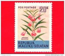 Etichette Di Fantasia -  1954 - Republik Maluku Selatan - Flora - Piante - Impatiens Balsamina - 20 - Altre Collezioni