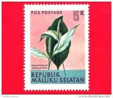 Etichette Di Fantasia -  1954 - Republik Maluku Selatan - Flora - Piante - Spathiphyllum Commutatum - 5 - Altre Collezioni