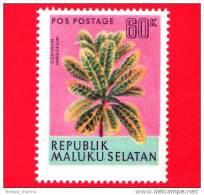 Etichette Di Fantasia -  1954 - Republik Maluku Selatan - Piante - Codiaeum Variegatum - 60 - Altre Collezioni