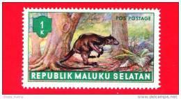 Etichette Di Fantasia -  1955 - Republik Maluku Selatan - Animali Della Foresta - Pos Postage 1 - Altri