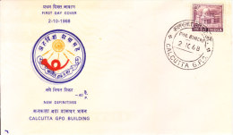 India First Day Cover 02.10.1968 - Calcutta G.p.o. - New Definitive Series - India
