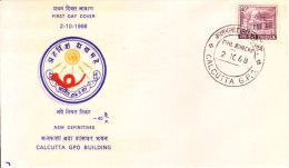 India First Day Cover 02.10.1968 - Calcutta G.p.o. - New Definitive Series - Brieven En Documenten