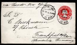 A2447) Mexico Cover From Cuernavaca 01/18/1902 To Frankfurt / Germany - Mexiko