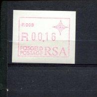 240293887 ZUID AFRIKA   POSTFRIS MINT NEVER HINGED POSTFRISCH EINWANDFREI ATM MICHEL 3 ATM P008 - Vignettes D'affranchissement (Frama)