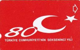 Turkey, N-382, 80th Annv. Of Turkish Republic, 2 Scans. - Turkije