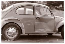 VW Käfer - Unfallwagen , Crash , Altes Foto , Ingenieur Brandt , Volkswagen , Unfall !!! - Cars