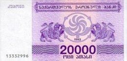Georgia 20000 Laris 1993 Pick 46a UNC - Géorgie