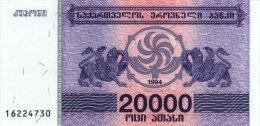 Georgia 20000 Laris 1994 Pick 46b UNC - Géorgie