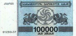 Georgia 100000 Laris 1994 Pick 48A UNC - Géorgie
