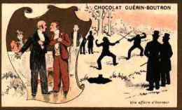 Chocolat Guérin-boutron - Ombres - Une Affaire D'honneur (un Duel D'escrime) - Guérin-Boutron