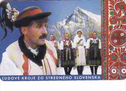 Slovaquie 1999, Slovak Telecom Chip, 12/99,costumes Folkloriques Slovaques - Liptov Et Východná,,  Used - Slovakia