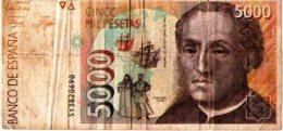 Cinco Mil Pesetas-5000 - 1931-Aujourd'hui: II. République - ....Juan Carlos I
