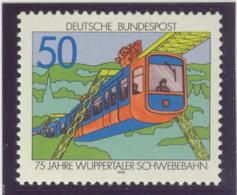 BL3-65 GERMANY 1976 MI 881 WUPPERTALER FLOATING TRAM, PUBLIC TRANSPORT. MNH, POSTFRIS, NEUF**. - Tranvías