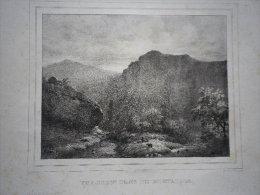 Vue Prise Près De Montaigle. Lithographie Originale Vers 1850. - Estampes & Gravures