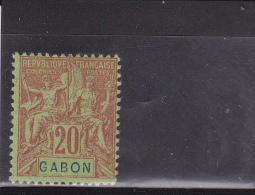 GABON - YVERT N° 22 * - COTE = 18 EUR. - GROUPE - Gabon (1886-1936)