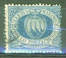 République - SAINT MARIN - SAN MARINO - Filigrane Couronne - N° 30 - 1895 - Saint-Marin