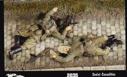 """- VERLINDEN - Figurines Soviet Casualties """" Bléssés Soviet """" - 1/35°- Réf 2035 - Beeldjes"""