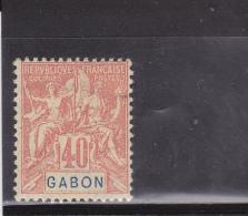 GABON - YVERT N° 26 * - COTE = 30 EUR. - GROUPE - Gabon (1886-1936)