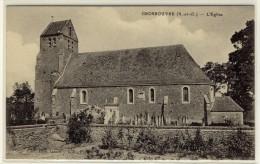 GROS ROUVRE  -  Vue Générale Sur L'église  -  Ed. Blon, N° -- - Otros Municipios