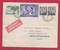LETTRE EXPRES // DE BRUXELLES  //  POUR CHATEAU SALINS  // 27/ 07/1960 - Other