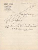 42 RIVE DE GIER COURRIER 1939  FABRIQUE DE GALOCHES Chaussures BRAVO   / R10 - 1900 – 1949