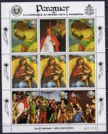 Paraguay 1983 SS MNH Rafael Christmas Noel Pope Jean Paul II Horses Horse Chevaux Cheval - Noël