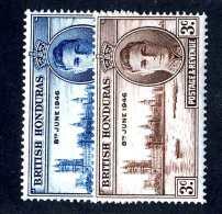 975 )  Br. Honduras 1946 Sc.#127-28  Mint* ( Cat.$.50 ) Offers Welcome! - British Honduras (...-1970)
