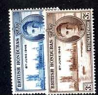 977 )  Br. Honduras 1946 Sc.#127-28  Mint* ( Cat.$.50 ) Offers Welcome! - British Honduras (...-1970)