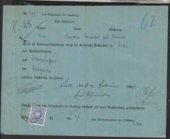 D.R,Nr.42,EF Auf Rückschein,o- Schleusingen (4060)  Preis Wurde Reduziert !! - Cartas