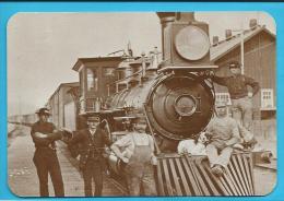 C.P.M. Train Ancien - Rails West - Mill City Im 1883 - - Etats-Unis