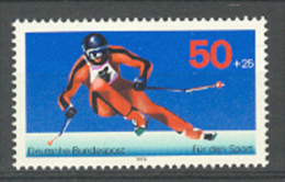 BL3-74 GERMANY 1978 MI 958 DOWN HILL SKIING, ABFAHRTSLAUF, SKIING. MNH, POSTFRIS, NEUF**. - Skisport